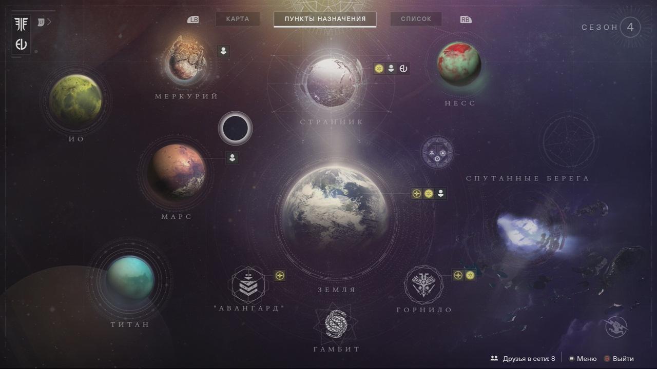 Планеты - отдельные локации в Destiny 2.
